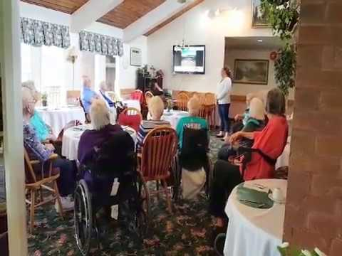 Group Karaoke at Country Manor Estates Retirement Residence