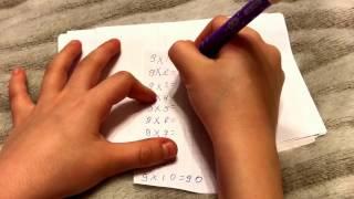 Таблица умножения на пальцах на 9 без зубрежки