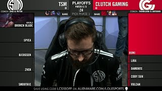 TSM vs CG Game 1 - 2019 LCS QuaterFinals - Team SoloMid vs Clutch Gaming