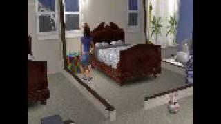Sims 2 hilarious, sim half-adult half-child glitch