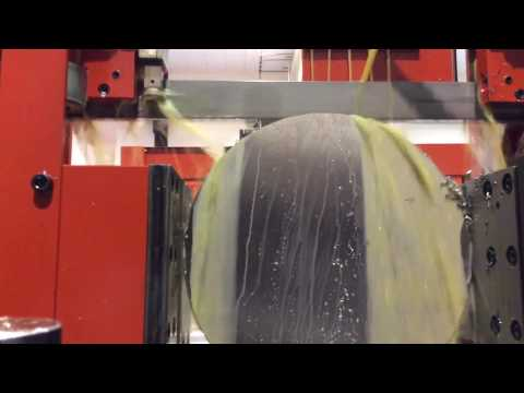 Amada PC430AX cutting 360mm titanium using Axcela G blade