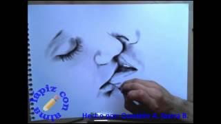 Dibujando una pareja besandose