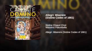 Allegri: Miserere (Sistine Codex of 1661)