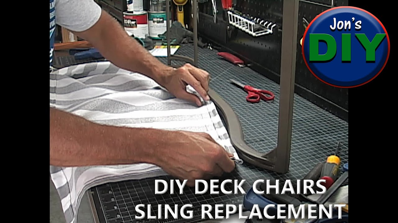 How To Replace Fabric Slings On Patio Furniture. (DIY) Part 83