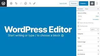 How To Use The WordPress Editor