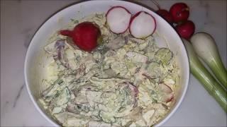Салаты:  Салат с редиской    Radish Salad by Natasha's in the kitchen