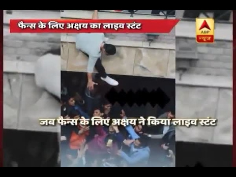 In Graphics: Take a look at Akshay Kumar's LIVE stunt for fans