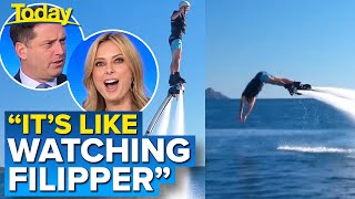 Weatherman freaks the studio out with unexpected stunt  | Today Show Australia