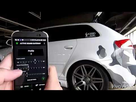 Audi a3 tdi active sound system  YouTube