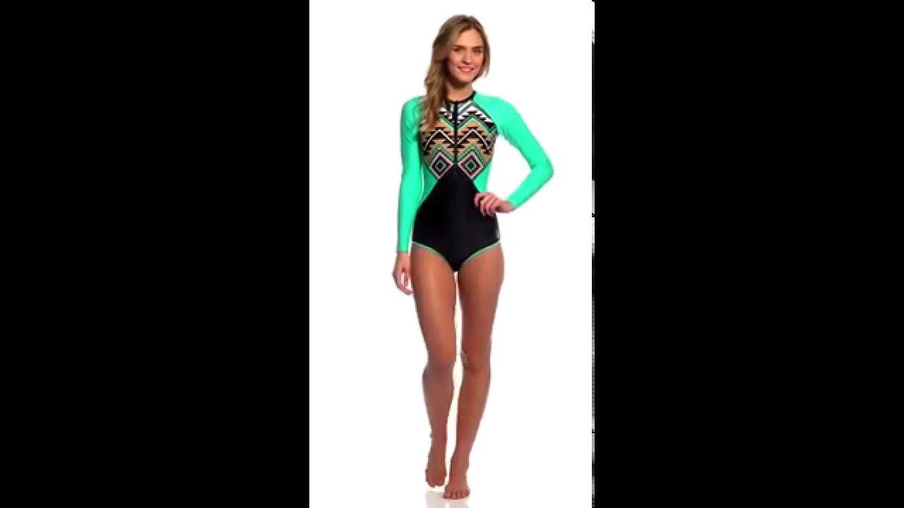 b9d629b32b Body Glove Breathe Women s Maka Surface Long Sleeve One Piece Swimsuit