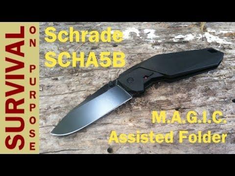 Schrade Knives SCHA5B M.A.G.I.C. Folding Knife – Great EDC Knife