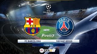 FC Barcelona vs PSG - 8/03/2017 |Champions League| FIFA 17 Predicts - by Pirelli7
