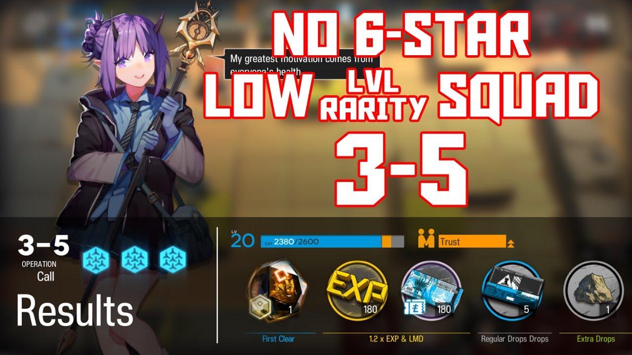 Download 【明日方舟/Arknights】[3-5] - Low Lvl-Rarity Squad - Arknights Strategy