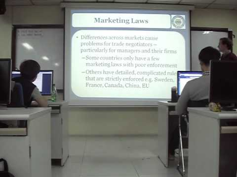 11. International Marketing - Legal Environment continued