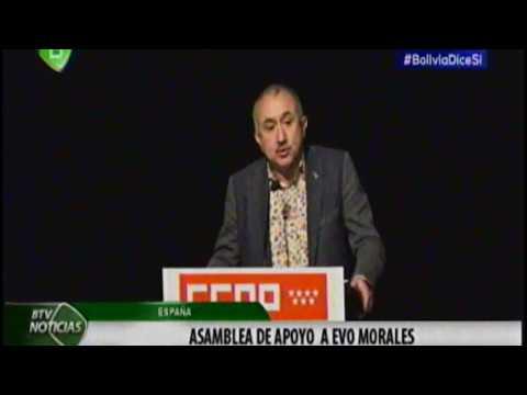 Evento en España de Apoyo a Evo Morales y Bolivia