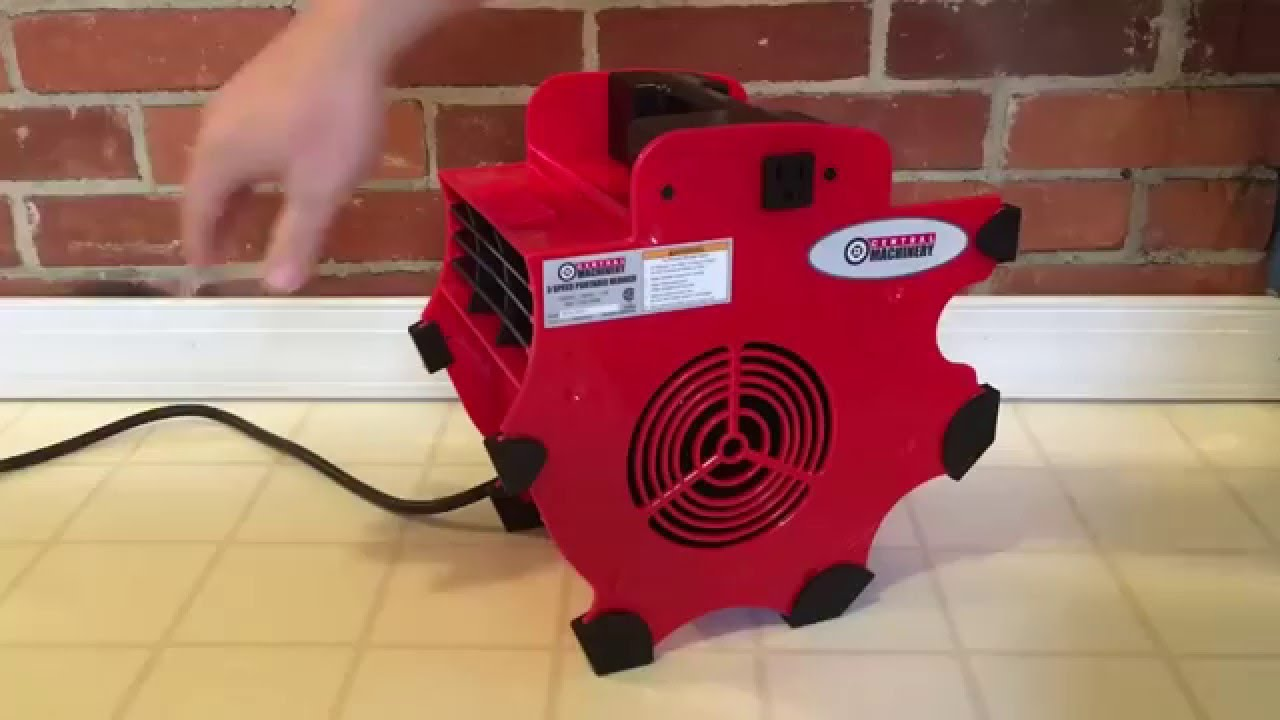 Central machinery portable blower by harbor freight youtube for Harbor freight blower motor