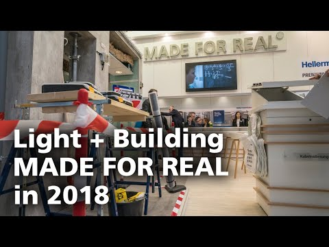 HellermannTyton is MADE FOR REAL at the Light + Building 2018 trade fair