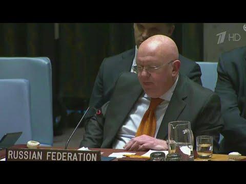 Василий Небензя с яркой речью выступил на заседании Совбеза ООН.