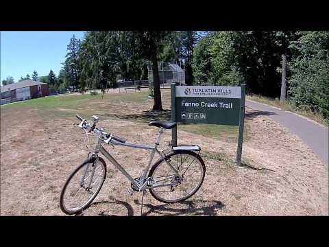 Biking The Fanno Creek Trail -  Portland/Beaverton Oregon - June 24, 2018