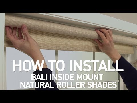 How to Install Bali® Natural Roller Shades - Inside Mount