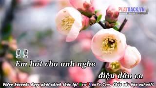 Em Hát Cho Anh Nghe Karaoke beat chuẩn