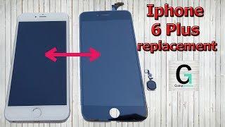 Iphone 6 Plus Screen Replacement. Замена экрана. Был белый, стал черный.