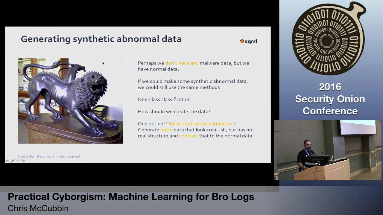 Security Onion 2016: Practical Cyborgism: Machine Learning for Bro Logs - Chris McCubbin