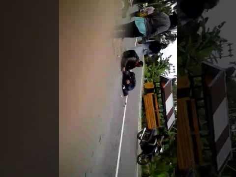 Kecelakaan di kuala tungkal ninja vs blade repsol