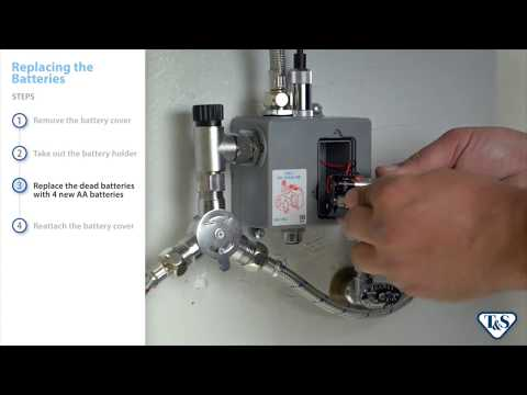 How To: Replacing Batteries In A Below-Deck Sensor Faucet