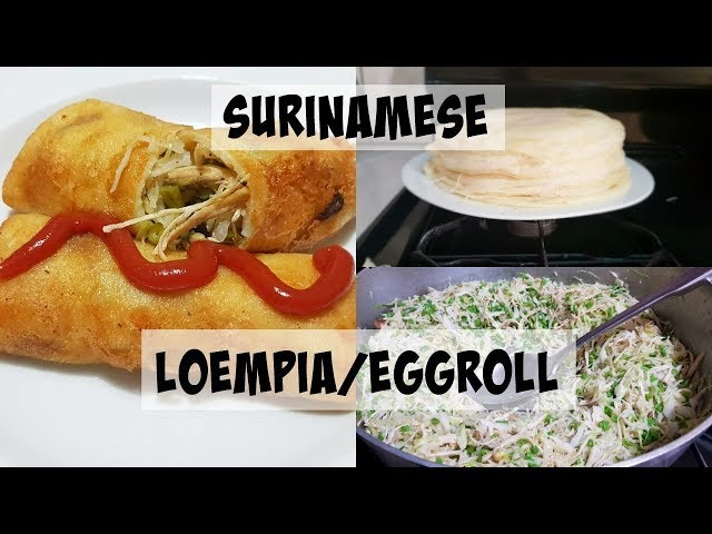Recipe: How To Make Surinamese Loempia/Eggroll | CWF