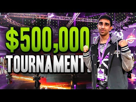 PLAYING IN A $500,000 TOURNAMENT!