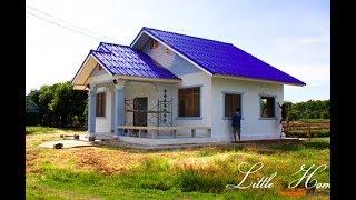 รีวิว สร้างบ้านหลังน้อยสำหรับครอบครัวเล็กๆ พื้นที่ 100 ตรม งบประมาณ 500,000 บาท