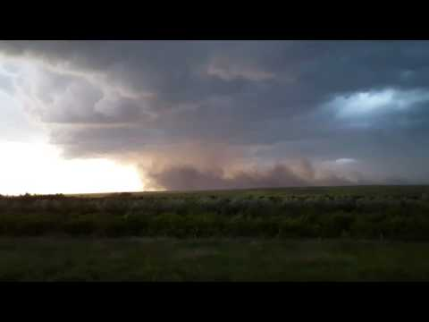 Severe Storm Near Eagle Butte, South Dakota (June 2, 2016) 4k HD