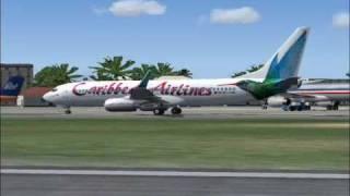 Caribbean Airlines Flight 185 Arrives St. Maarten (TNCM) (FS2004)