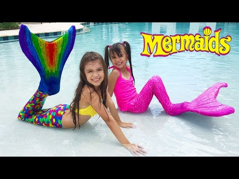 FIN FUN MERMAID TAILS - REAL MERMAIDS IN OUR POOL - Dream Come True Becoming a Mermaid!