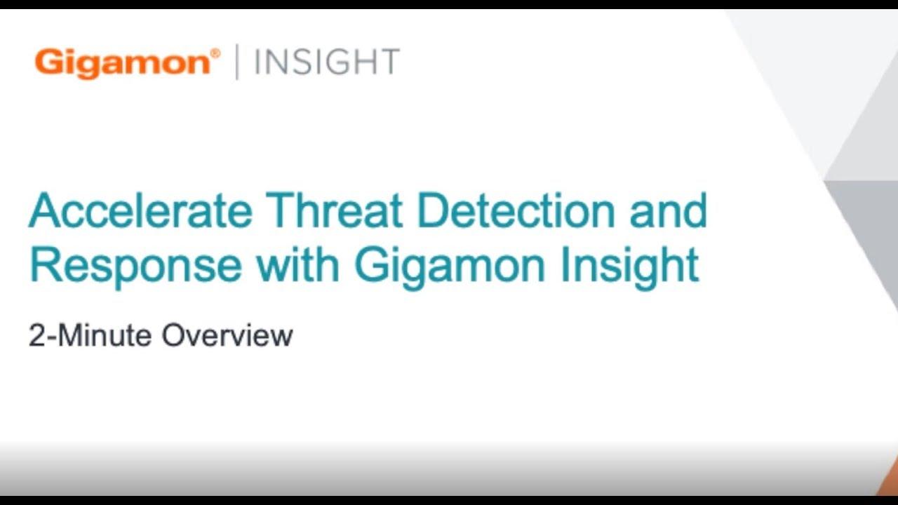 Gigamon ThreatINSIGHT | Gigamon