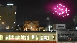 関東鉄道常総線「古参0系+310系車」と常総きぬ川花火大会 2019-8-11