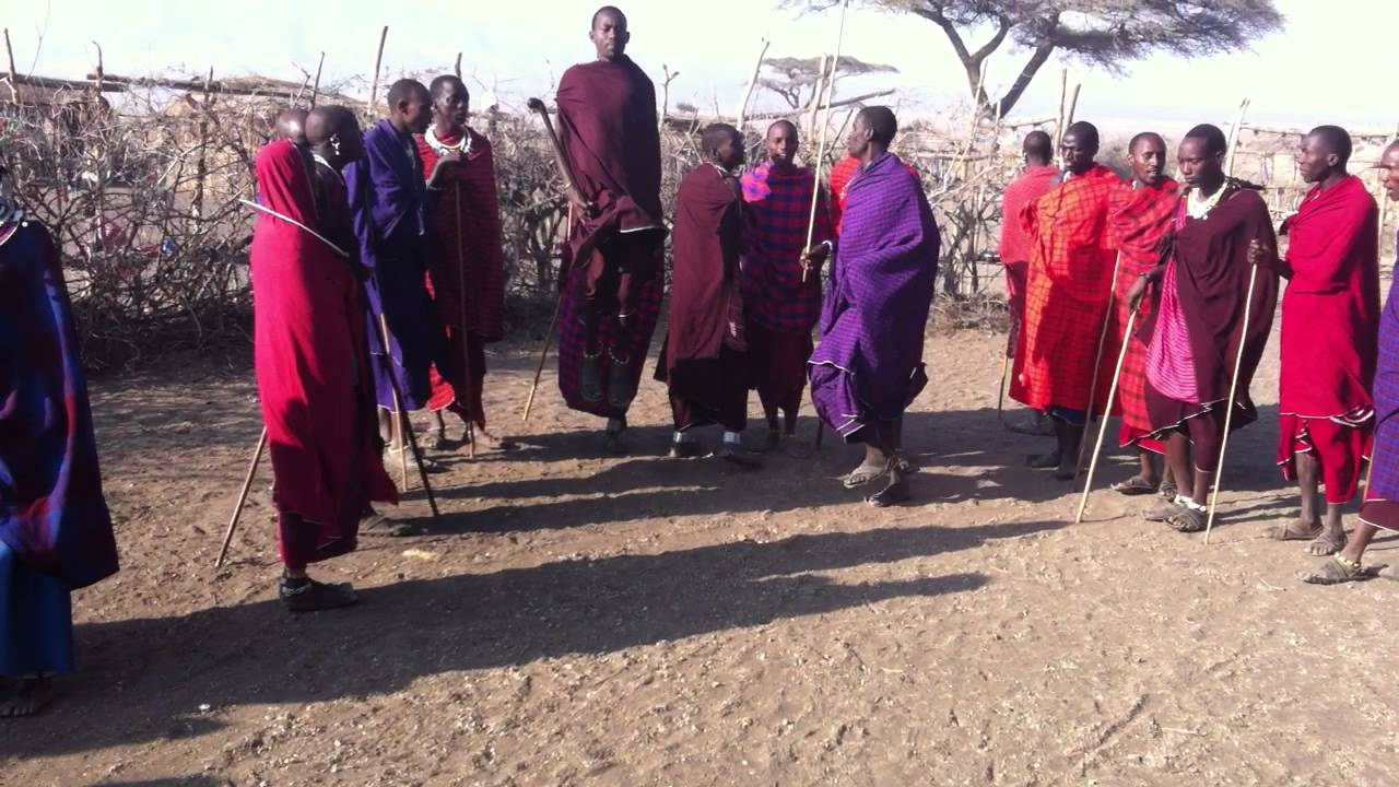 avriel jumping with masai tribe in africa youtube