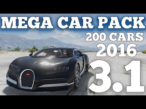 GTA V - MEGA REALISTIC CAR PACK 3.1 - OIV File (300 VEHICLES) [DOWNLOAD]