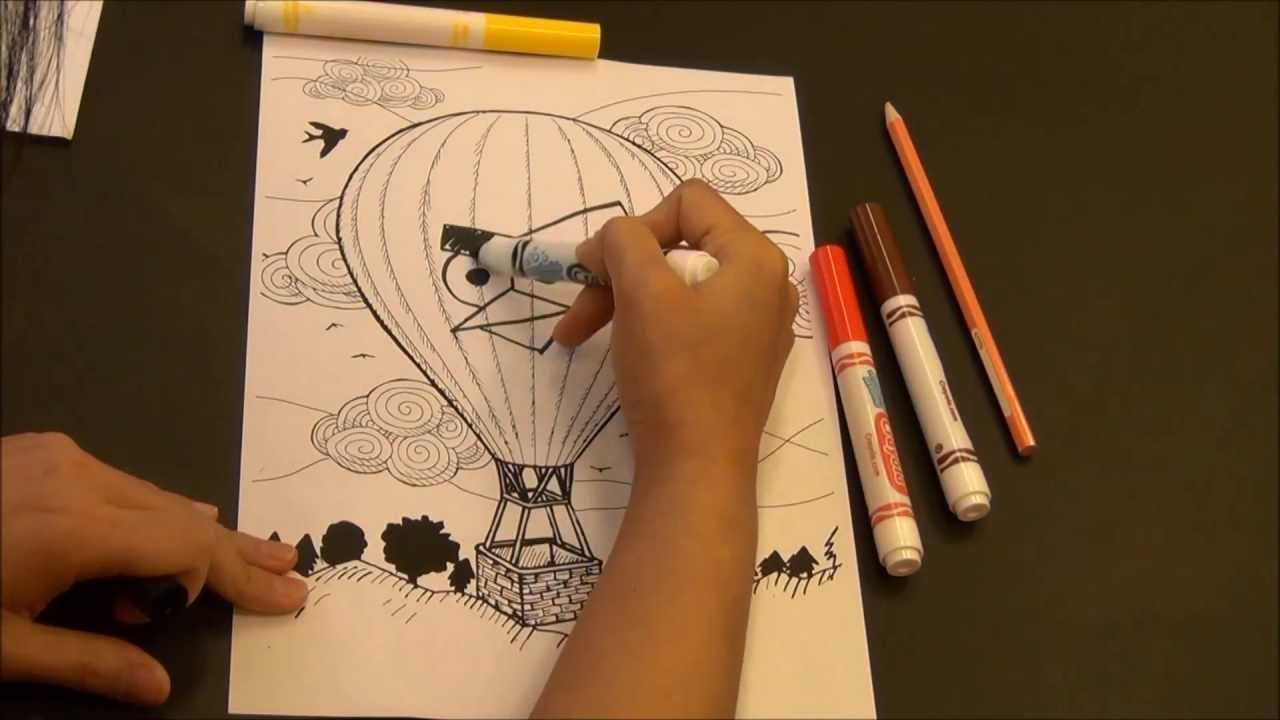 Quiver free coloring pages - Quiver Content Preview Hot Air Balloon