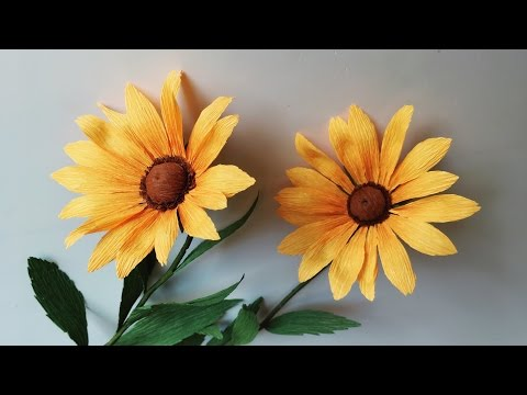 Abc Tv How To Make Rudbeckia Paper Flower From Crepe Paper Craft