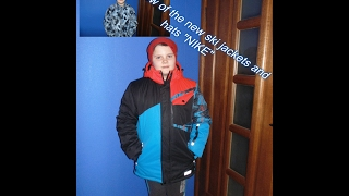 "Обзор новой горнолыжной куртки и шапки""NIKE""(Review of the new ski jackets and hats ""NIKE"")"