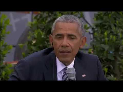 Barack Obama and Angela Merkel Speak in Berlin At Germany