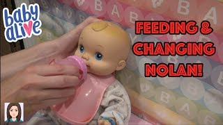 Feeding & Changing Baby Alive Boy Nolan