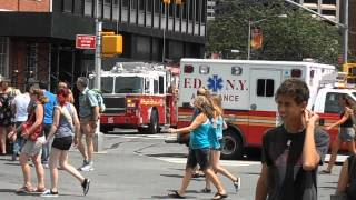 Tower-Ladder 15 FDNY Arriving On Scene