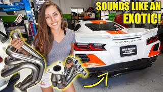 WE INSTALLED NASCAR HEADERS ON MY C8 CORVETTE! *INSANE SOUND*