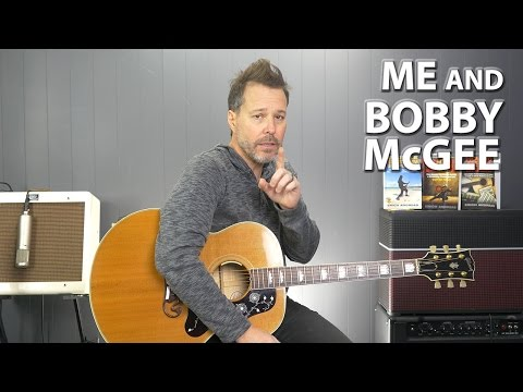 How to play Me and Bobby McGee by Janis Joplin on the Guitar