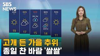 [날씨] 고개 든 가을 추위…종일 찬 바람 '서…