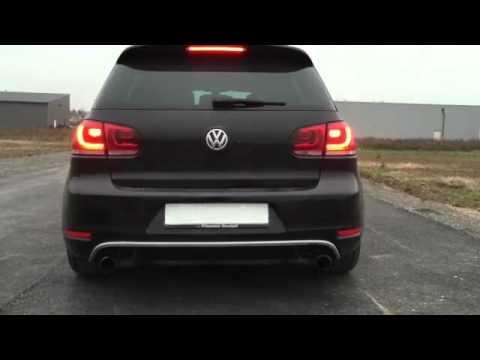 Vw golf vi gtd exhaust sound youtube for Golf 6 gtd blanche