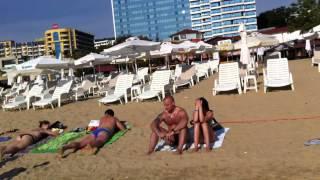 Болгария, Золотые пески (Golden Sands) пляж(Вид с пляжа, курорт Золотые пески (Golden Sands), 8-30 утра по местному времени. Время съемки - первые числа сентября..., 2013-09-13T06:42:28.000Z)